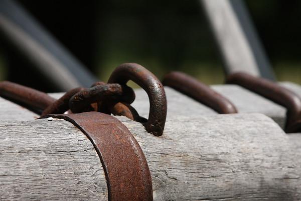 Big wheel log hauler detail