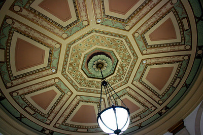 Ceiling, Central U.S. Post Office, Manhattan. 31 Mar 2008