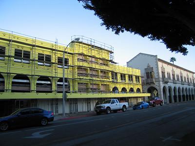 Riverside Parking Garage 2 being refurbished.  26 Jan 2009.