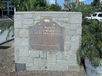 Plaque: Dead Men's Point CRHL No. 57, San Diego, 27 Jun 2009