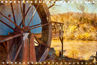 Old Mill Water Wheel Southern Missouri