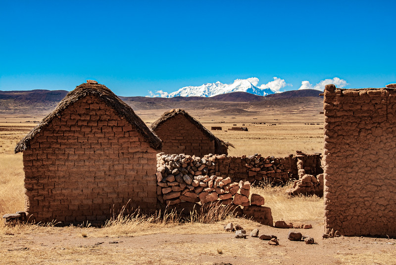 Peasant Shacks, Alto Plano, Bolivia