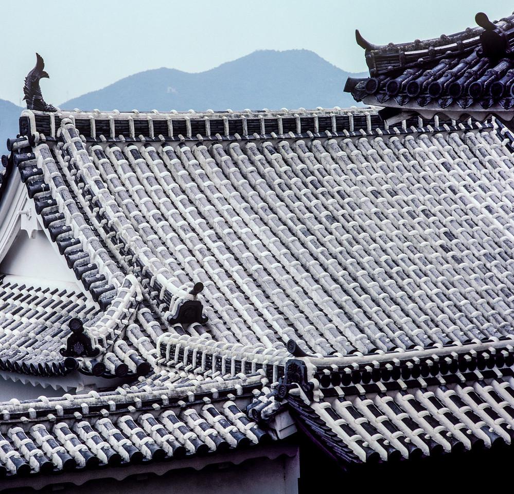 Roof, Himeji Castle, Himeji, Japan, 1990