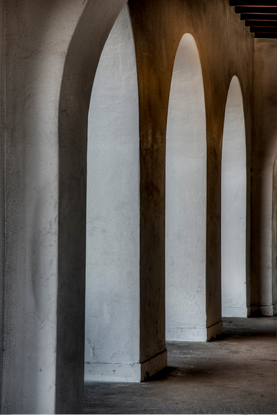 Arched Passageway, Old Navel Training Center, San Diego