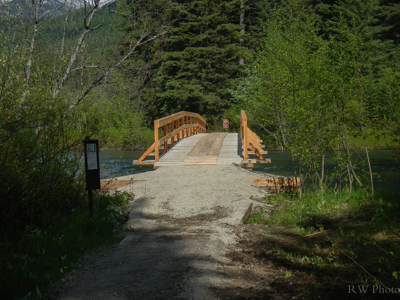New bridge over Bowman Creek, thanks to Chip and the trails crew