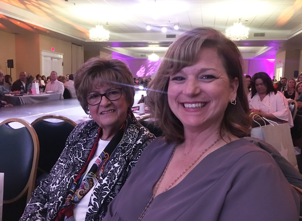 . Sandra McKenna of Billerica and Kelliann Bazemore of Lowell