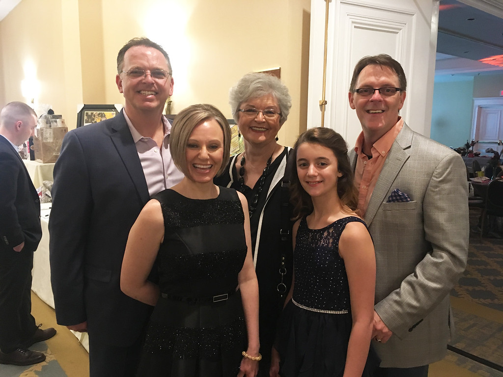 . From left, committee co-chair Andrew Orr-Skirvin of Lowell, Nancy Skirvin and Diana Skirvin of Portland, Ore., and Danielle Skirvin and committee co-chair Robert Orr-Skirvin of Lowell