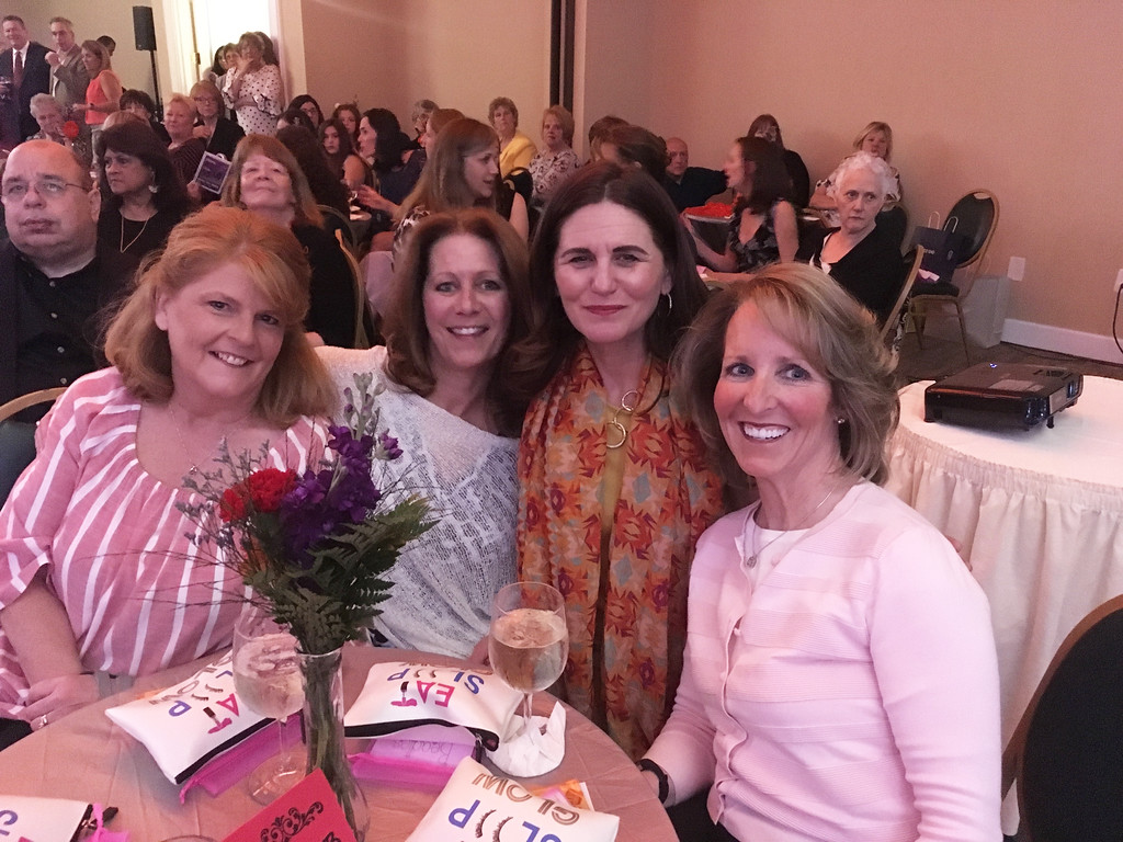 . Left, Tracey Edwards of Tyngsboro, Lyndabeth Abraham and Diane Fokas of Lowell, and Kim McQuade of Chelmsford