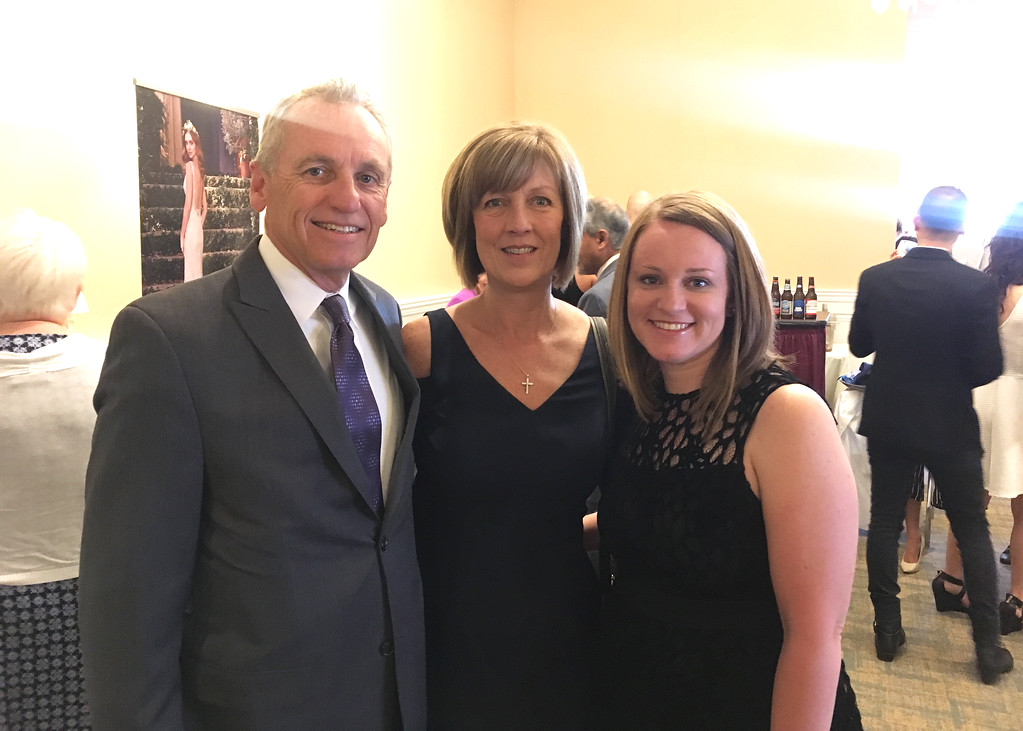 . From left, Rick and Michelle Hess of Westford, and Carisa Pajak of Chelmsford