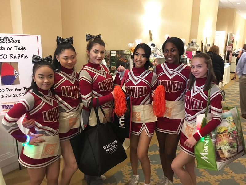 Lowell High School cheerleaders