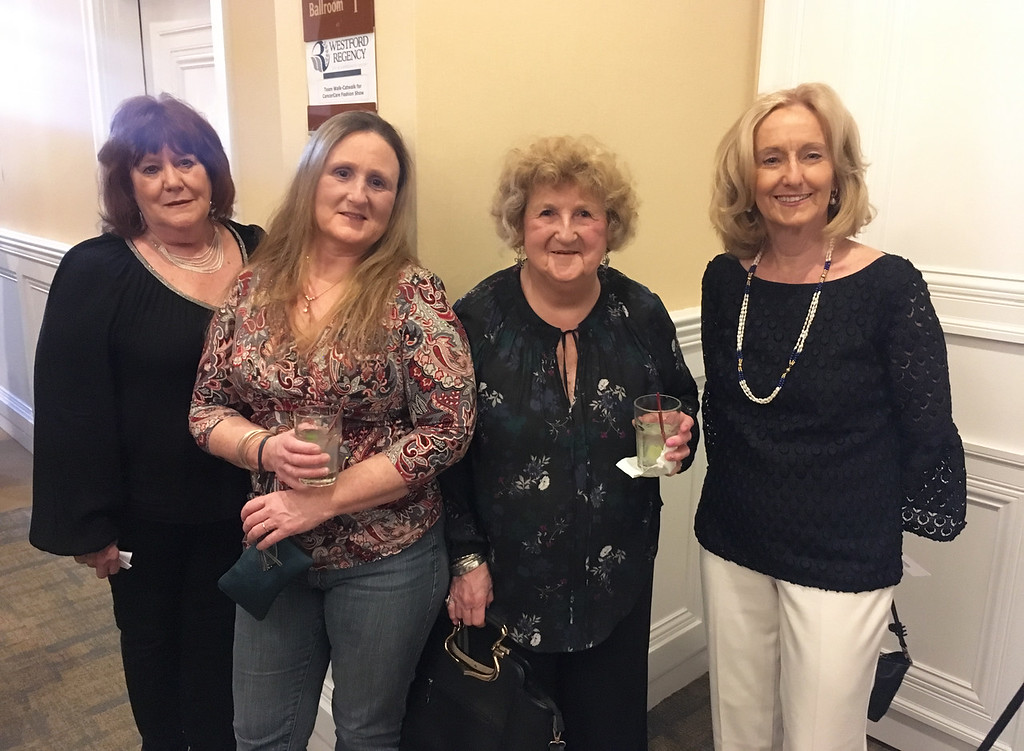 . From left, Mary Lukas of Chelmsford, Karen Flynn of Dracut, Maryann Dolloff of Lowell, and Anne Gallagher of Chelmsford