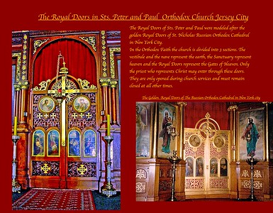 The Royal Doors in Sts. Peter and Paul Orthodox Church Jersey City