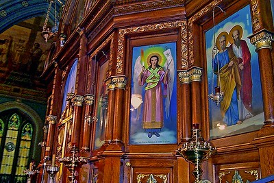 Icons on the Iconastasis in Sts. Peter and Paul Church Jersey City