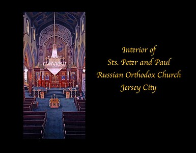 Interior of the Russian Orthodox Church of Sts Peter and Paul in Jersey City