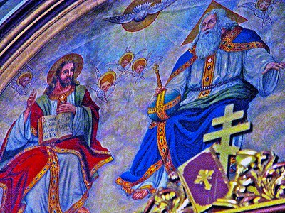 Icon of The Trinity Behind the Altar of Sts. Peter and Paul Orthodox Church Jersey City
