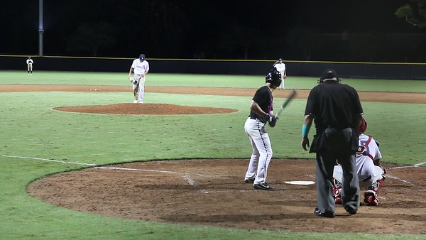 Tristan K with nasty strike three curveball against American Heritage