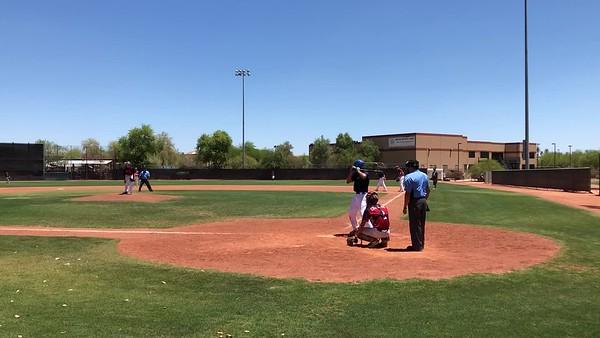 Tristan Single in Arizona (USA Baseball Tournament)