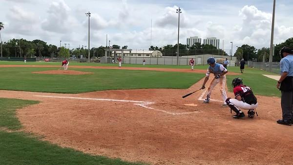 Tristan single down left field line in Ft Meyers