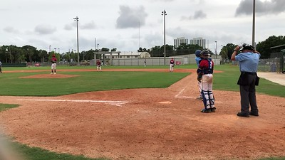 Tristan single to right field- makes it to third on error