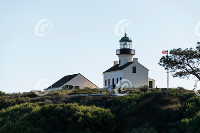 Iconic Old Point Loma Lighthouse at Cabrillo National Monument on Point Loma in San Diego, California