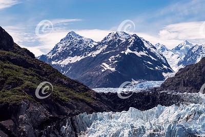 Mt Fairweather Canada from Margerie Glacier in Glacier Bay Alaska