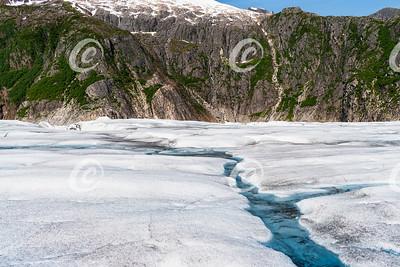 Closeup of the Mendenhall Glacier near Juneau Alaska