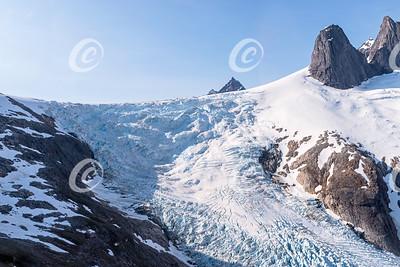 Closeup of a Portion of Gilkey Glacier in Alaska