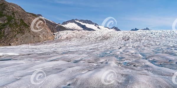 Aerial View of Mendenhall Glacier near Juneau in Alaska