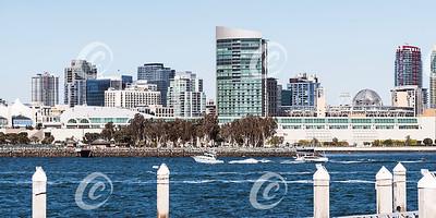 San Diego Convention Center and Embarcadero Park from Coronado Island