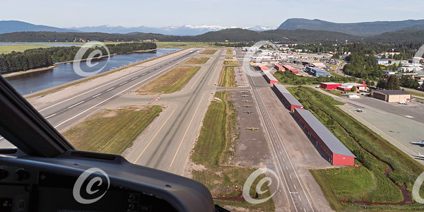 Aerial View of the Juneau Alaska Airport Runways and Seaplane Inlet