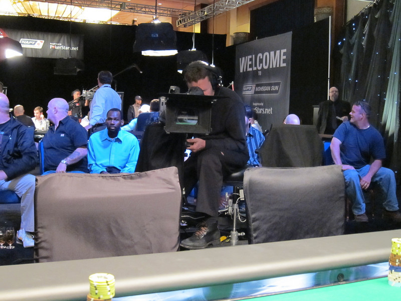 There really was nowhere to hide.<br /> <br /> Out in the audience I see two players who won seats the previous day.  They opted to sell theirs for $25K.  I speak with one of them and we laugh about the decision.  At this point, I am calmly certain that I have made a big mistake.
