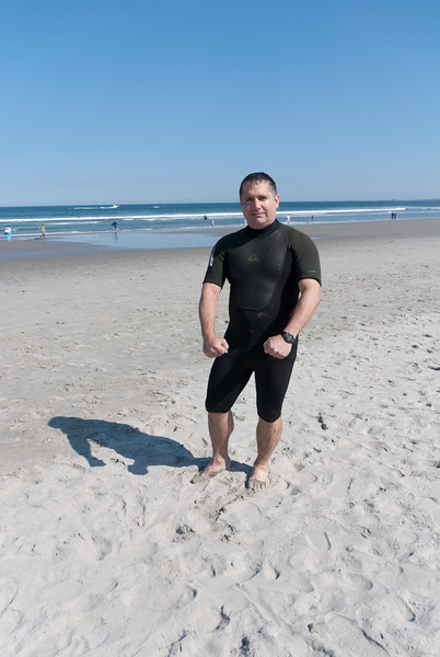 The first wetsuit I surfed in.  Not so ridiculous, but it prompted this ridiculous pose.