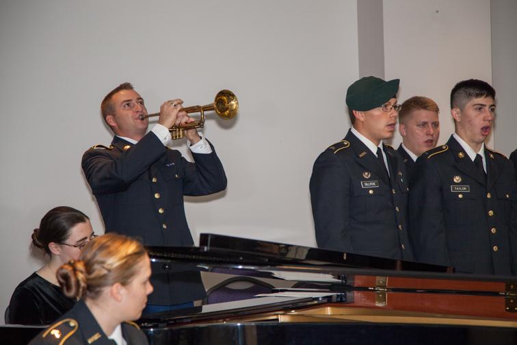 ROTC choir and accompaniment