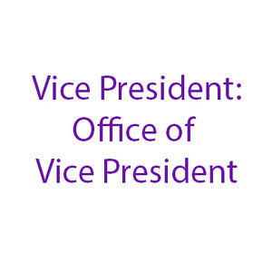 Vice President:  Office of Vice President