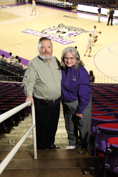 Bob and Nancy Day at Basketball Game