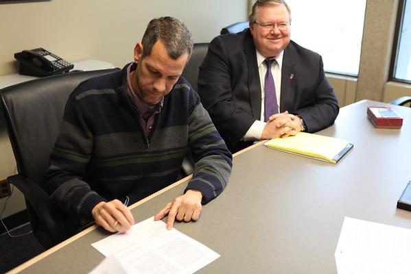 Davis Campus Land Signing
