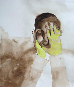 Yellow Gloves (Garrie Ma; ink, gouache)