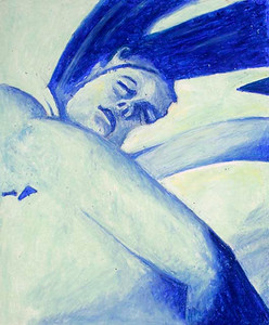 Sleeper (Maria Ossa; oil pastel)