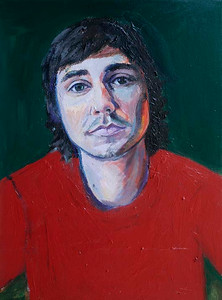 Red Shirt (Madison Haskins; acrylic)