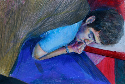 Sleeper (Madison Haskins; colored pencil)