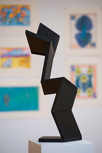 Student Artwork on display in the Mark W. Potter '48 Art Gallery