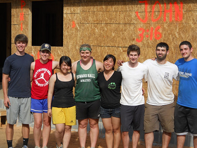 From left: Alexander Hathaway, Claire Kozlowski, Linh Chi Phan, Amelia Vojt, Michele Paek, Kevin Miller, Barton Dear and Nolan Reed in Lumpkin, Ga.