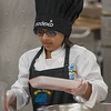 Mas'al Wagar of South St Elementary begins making her Meatball Sliders at the 2017 Future Chefs Competition at Fitchburg High School. SENTINEL&ENTERPRISE/ Jim Marabello