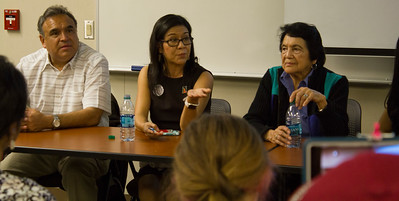 left to right: Emilio Huerta, Juanita Chavez, and Dolores Huerta
