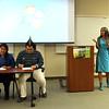 Rae Ann Kumelos introducing the Inaugural English Student Colloquium
