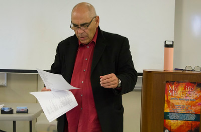 Jimmy Santiago Baca recites a poem about a Mexican-American hate crime.