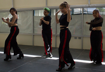 The Long Beach based K-pop dance troupe The Last Bite performs in the cafeteria as part of Korean Culture Day.