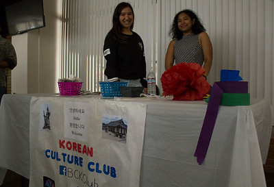Students from the Korean Culture Club host a booth during the Korean Culture Day event on April 9th.