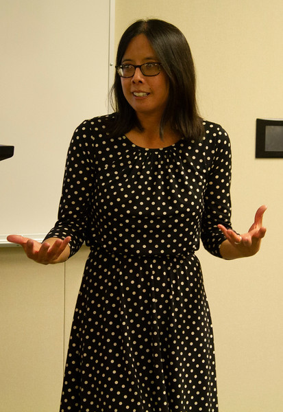 Alendra Chang speaks in the Levan Center on April 19th.