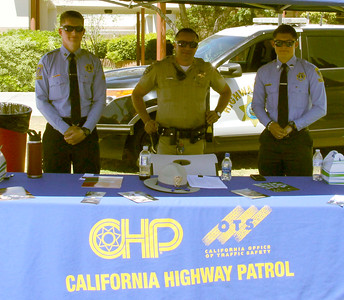 California Highway Patrol hosts a booth in the CSS Lawn.